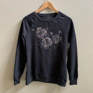 Life Is Good Sleep Sweatshirt Rose Print